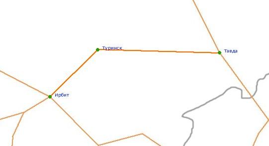 Пересекающие и примыкающие дороги.  Автодорога, соединяющая населённые пункты Свердловской области.